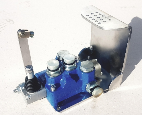 Remote cable operated control valve
